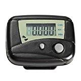 1écran LCD numérique Noir RUN étape Mouvement Run Podomètre Walking Distance/compteur de calories/cardio étape compteur Noir