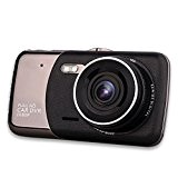 A214pouces Full HD 1080P Double lentille voiture camera video recorder dash cam Monitoring IR Night Vision