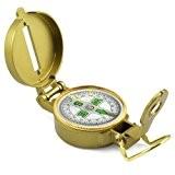 Accessotech Pliante Portable Lentille Compas Multifonction Américain Style Militaire Bronze