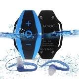AGPTek [IPX8 Imperméable] S05 Lecteur mp3 Waterproof avec Bandage, MP3 Imperméable et Léger pour Nager et Sports, Bleu
