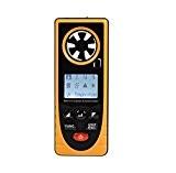 Air Flow anémomètre, YH-THINKING Portable 8 en 1 vent vitesse compteur multifonctions numérique anémomètre adaptée à la mesure de température ...