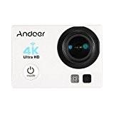 Andoer 16MP Action Camera Ultra-HD LCD 4K 25FPS 1080P 60FPS Wifi Connexion sans fil 170 ¡ã grand-angle avec plongee sous-marine ...