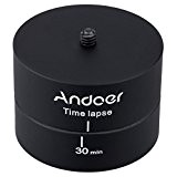 Andoer 360 degrés de panoramique tournant stabilisateur PTZ Accéléré trépied Adaptateur pour Gopro DSLR/Panoramique automatique time-lapse photography