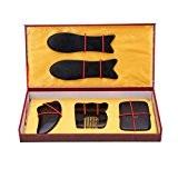 Andux Zone Buffalo Horn Gua Sha Conseil Outil de Massage Traditionnel Gua Sha 5 pièces Set GSB-01