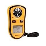 Anémomètre - Numérique Vent Vitesse Mesure de température Jauge de mesure de vitesse Anémomètre / Air - Outil Idéal pour ...