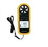 Anémomètre, YH-THINKING Digital vent vitesse compteur thermomètre Mini vent vitesse Gauge Air vitesse compteur mesure du vent