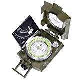 ARINO Camping Boussole Multifonction Professionnelle Orientation Militaire Portable avec Inclinomètre et Echelle Compas à Extérieur Plein Air pour Voyage, Randonné, ...