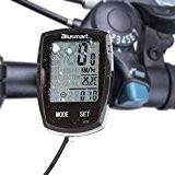 blusmart LCD multi fonction étanche Ordinateur de vélo Compteur (Noir)