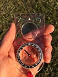 Boussole (la Base pour la Survie, L'Orientation, Navigation, Sac à Dos) - Rubrique Magnétique, Rempli de Liquide, Roulement d'Azimut, Plaque ...