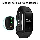 Bracelet de Fitness,Amytech D107 Smart Bracelet Connecté Sport Fitness Tracker Podomètre Calories Sommeil Fréquence Cardiaque Tracker d'activité