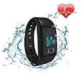 Bracelet intelligent étanche IP67 Montre Connectée Avec Écran Tactile Fitness Tracker Podomètre Calories Sommeil Fréquence Cardiaque Rappel d'appel pour Android ...