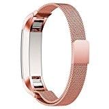 Bracelet pour Fitbit Alta, avec le Fermoir Magnétique Unique, Voberry® 12mm Strap Acier Inoxydable Band pour Fitbit Alta Aucune Boucle ...
