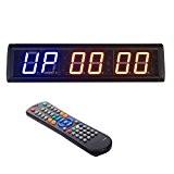 btbsign 5,8cm Intervalle programmable LED Chronomètre Minuteur Compte à rebours Horloge