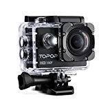 Caméra Sports/Topop Caméra embarquée étanche Haute Définition/Caméra Action Sport avec 12MP image, Full HD 1080p à 30fps Vidéo,30m Etanche,2 pouces ...