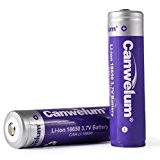 Canwelum Batterie 18650 Li-ion Puissant, Pile 18650 Rechargeable 3.7V, Accu 18650 Lithium-ion