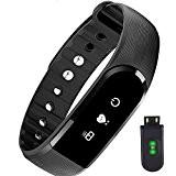 Cardiofréquencemètre poignet, PALADY 2017 nouveau crologio Podomètre Bracelet Fitness Tracker Bracelet Fitness Bluetooth montre bracelet podomètre pour iOS Android contrôle ...