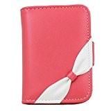 carte de crédit sac carte porte Fashion cas avec fente 20 de carte, Rouge clair