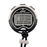 Chronomètre de Sport, Foxom Professionnel Digital Imperméable Chronographe Timer, Trois rangées 60 Mémoire de piste 1/100 seconde Précision