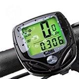 Compteur de vélo sans fil Vélo Compteur de vitesse Vélo Odomètre Multi Fonction avec écran rétroéclairé étanche
