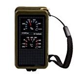 Dcolor Boussole Thermometre Sifflet Briquet Vert Militaire Randonnee Camping