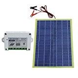 eco-worthy 12V 20W Panneau solaire époxy Kits W/PWM Contrôleur 10A pour charge de batterie 12V