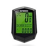 Enkeeo Preciso 1.0 Compteur de Vélo sans Fil Compteur de vitesse, Odomètre de Vélos, Affichage Rétro-éclairage, Multifonctions Suivi Distance, Vitesse, ...