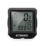 Enkeeo Vélo 1.0 Compteur de Vélo Filiaire Compteur de vitesse, Odomètre de Vélos, Affichage Rétro-éclairage, Multifonctions Suivi Distance, Vitesse, Temps, ...