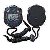 Finlon Odomètre Chronomètre Chronomètre Compteur de LCD numérique chronographe Sports Timer podomètre