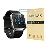 Fitbit Blaze Tempered Glass Screen Protector, [2 Pack] KIMILAR Premium HD Clear Film / Ultra haute définition Invisible et anti-bulle ...