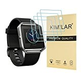 Fitbit Blaze Tempered Glass Screen Protector, [4 Pack] KIMILAR Premium HD Clear Film / Ultra High Definition Invisible and Anti-Bubble ...