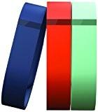 Fitbit Flex Lot de 3 Bracelets accessoires Bleu Marine/Turquoise/Mandarine