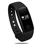Fitness Bracelet,SURPHY ID107 Tracker d'activité Bracelet Connectée Montre Cardiofrequencemetre Tracker Sommeil Frequence Cardiaque Bluetooth Montres Hommes