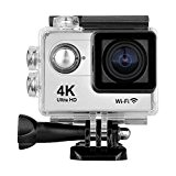 """FLOUREON H9 Caméra Sport Etanche 4K 2"""" Ecran LCD Ultra HD Action Caméscope Embarquée Etanche 30M WIFI 170 degré HD ..."""