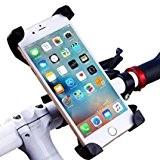 Forfar Support Téléphone Vélo Ajustable du Guidon Solide et Stable Rotation à 360° Compatible avec tous les Téléphones autres Appareils ...