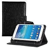 Fulltime® Pour 7 inch Android Tablet [Ultra Slim][Poids léger]Housse universelle en cuir pour porte-flip