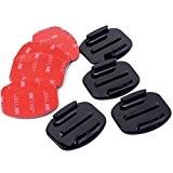 Gard Casque Kit D'accessoires Ensemble de 4x Plat Supports + 3M Surface Adhésif Collant Autocollant Elaquettes GoPro Go Pro Héros ...
