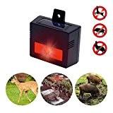 Gardigo solaire pour animaux sauvage répulsif contre les lapins, renards, sangliers, chevreuils, cerfs et autres animaux sauvages