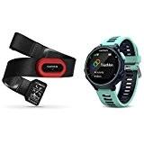Garmin Forerunner 735XT - Cardiofréquencemètre - sangle de poitrine Premium HRM-Run incluse bleu/turquoise 2017 cardio velo