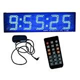 """Godrelish Couleur Bleu 5 """"LED Countdown / up Timing Race Horloge numérique Chronomètre pour l'exécution de la télécommande IR"""