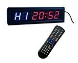 godrelish pour fitness Chronomètre Minuteur d'intervalle Horloge murale W/Télécommande IR (35,6x 10,2x 3,8cm)