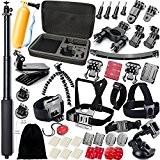 GOGOING - lot de 43 Accessoires pour Gopro Hero4 SESSION,Hero4,hero3+,hero3,hero2 & Hero Camera Caméscope Appareil Sportif Sony Action Cam HDR-AS15/AS20/AS30V/AS100V/Sony ...