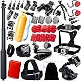 GOGOING - lot de 43 Accessoires pour Gopro Hero4 SESSION,Hero4,hero3+,hero3,hero2 & Hero Camera Caméscope Appareil Sportif SJ Action Cam