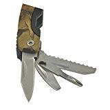 Gosear® En Acier Inoxydable Pocket Militaire Multifonction Pince Pliable Survie en Plein Air Outil Camouflage