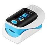 GRDE Oxymètre de Pouls SpO2 (saturation en oxygène dans le sang) et moniteur de fréquence cardiaque, Certifié CE et FDA, ...