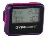 Gymboss Minuteur d'intervalle et chronomètre - COQUE BRILLANT VIOLET / ROSE