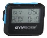 Gymboss Minuteur d'intervalle et chronomètre - COQUE NOIR / BLEU SOFTCOAT