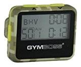 Gymboss Minuteur d'intervalle et chronomètre - COQUE VERT CAMOUFLAGE / JAUNE SOFTCOAT