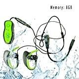 HD Nouveau design étanche Portable sports Mp3 player 8 Go Waterproof Mini Sport MP3 Player IPX8, écoutez votre musique tout ...