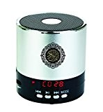 Hitopin Digital Quran Speaker 8GB FM Radio with Remote Control Silver Color over 30Reciters and Translations Available Quality Qur'an Speaker ...