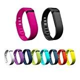 Hometalks 10PCS Remplacement Bracelet à fermoir pour Fitbit Flex (pas Tracker)+1pcs gratuit Hometalks mousqueton--large